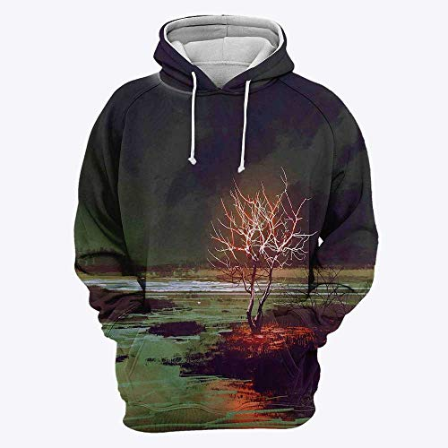 3D Print Deer Decor Hoodies for Men