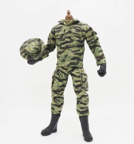 Military 12 Inch Figures (1/6 Scale Uniforms Clothes Tiger Soldier Uniforms for 12