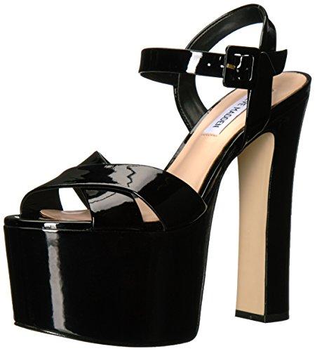 Steve Madden Kvinders Tammy Platform Kjole Sandal Sort Patent u332ETgY