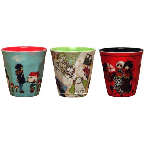 Cool-headedness melamine cup all three sets of ground cherry