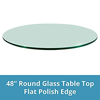 48u0026quot; Inch Round Glass Table Top, 1/2u0026quot; Thick, ...
