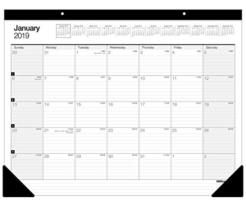 Office Depot Brand Large Monthly Desk Pad Calendar, 22