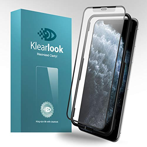 11 Pro Matte Screen Protector,Klearlook Tempered Glass Protector Anti-Fingerprint Anti-glare Full Coverage Case Friendly [1 Front Glass+1 Back Film] Compatible with iPhone 11 Pro 5.8 with Easy Install