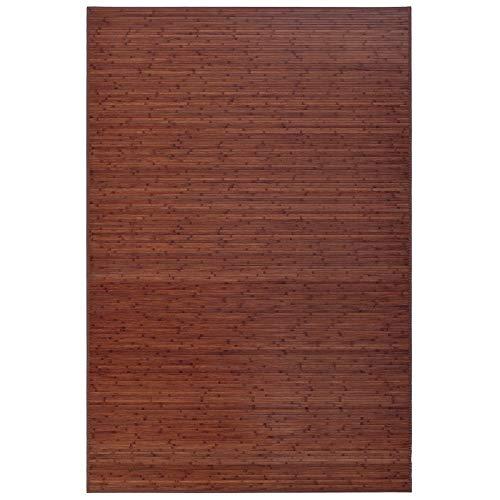 Alfombra de salón o Comedor Industrial marrón de bambú de 180 x ...
