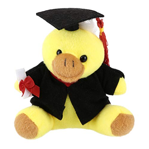 Binory Plush Toys Cap and Gown for Graduation 2019 Plush Stuffed Animals Graduation Toys Gift, 5.12'' Soft Cartoon Dr Animals Toy Souvenir for Ceremony Party Decorations(Duck)