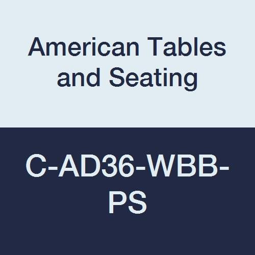 Beadboard Desk (American Tables & Seating C-AD36-WBB-PS Floor Glide for Booths, Fits Bead Board Back Platform Seat Booth)