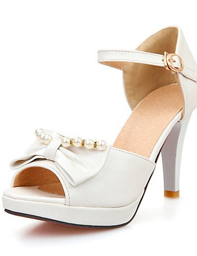 ShangYi Womens Shoes Stiletto Heel Peep Toe / Platform Sandals Wedding / Party & Evening / Dress Blue / Pink / White Blue