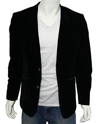 Veste noir en velours pour homme blazer veste costume noir