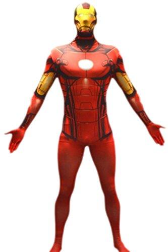 erdbeerloft – Herren Marvel Iron Man, Comic, Cosplay, Kostüm, XS-L, Rot