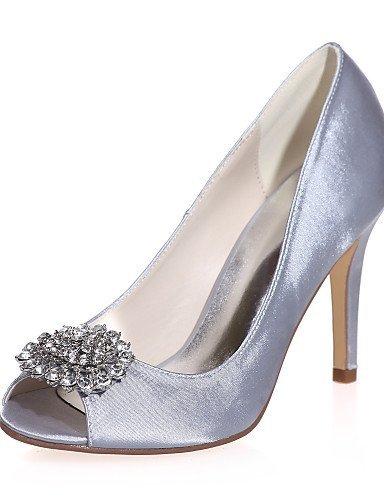 ShangYi Chaussures de mariage - Noir / Bleu / Rouge / Ivoire / Blanc / Argent / Champagne - Mariage / Soirée & Evénement - Bout Ouvert - Sandales , 3in-3 3/4in-champagne