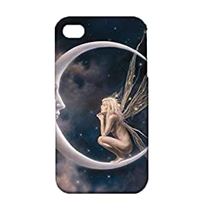 iPhone 4/4s Mobile Shell Individual Character 3D Phone Case Snap on iPhone 4/4s Elves Dialogue With The Moon Pattern Cover