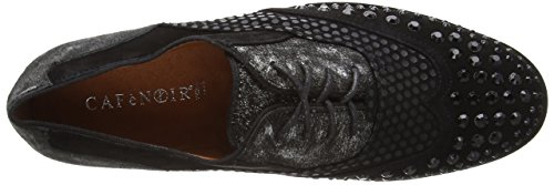 Cafènoir De Mujer Mehrfarbig Oxford Piel Zapato Nero Multicolor argento 659 waqB1wZ