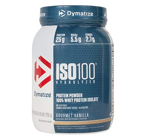 Dymatize ISO 100 Hydrolyzed Whey Protein Powder Isolate, Gourmet Vanilla, 1.6 Pound (Dymatize Isolate Whey Protein)