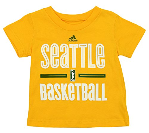 Wnba Seattle Storm - adidas WNBA Toddler's Seattle Storm Short Sleeve G0-to Tee, Yellow 3T