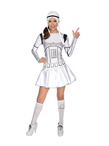 Star Wars Secret Wishes Female Storm Trooper, White/Black, Large