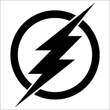 The flash vinyl decal sticker black 4