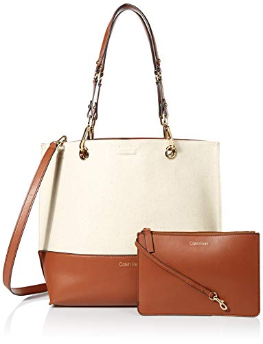 Calvin Klein Sonoma Reversible Novelty North/South Tote, Natural (Natural Leather Tote)