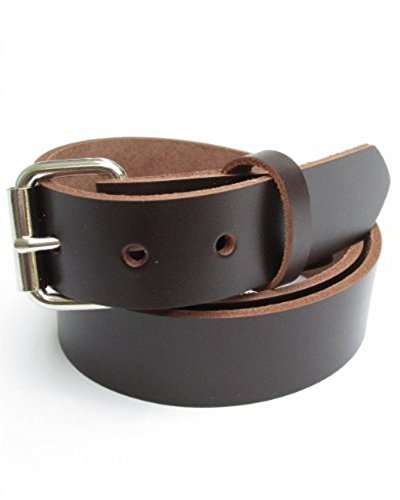Big & Tall Mens Heavy Duty Dark Chocolate Brown Leather Belt 1 (Buckle Dark Chocolate)