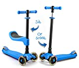 Toys : LaScoota scooter for kids scooters 3 wheeled scooter 3 wheel scooter for kids ages 6-12 (Blue)