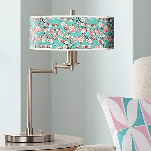 Cherry Blossoms Giclee CFL Swing Arm Desk Lamp - Giclee Gallery - Giclee Cherry Blossoms