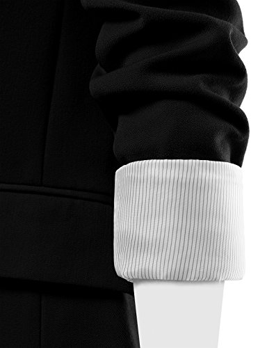 FPT Womens Basic Boyfriend Blazer BLACK 3X-LARGE