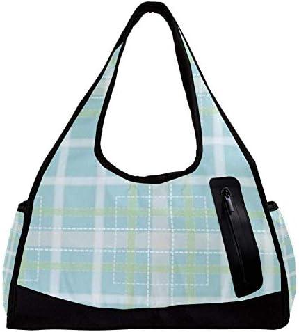 スポーツバッグ ダッフルバッグ ボストンバッグ ジムバック ストライプ柄 チェック柄 旅行バッグ 大容量 軽量 アウトドア ユニセックス 人気