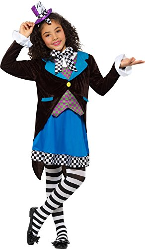 Smiffys 49693m Little Miss Hatter Costume, With Dress,