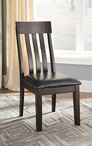 Signature Design by Ashley – Haddigan Dining Room Chair – Upholstered Chairs – Set of 2 – Dark Brown