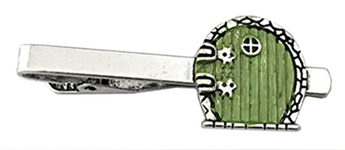 Outlander Lord of the Rings Green Hobbit Door - Movie Series - Tiebar Tie Clasp Wedding Superhero Logo w/Gift Box by Outlander