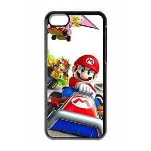 Game Boy Super Mario Bros 3 Funda iPhone 5C Funda caja del teléfono celular Negro A8W5GNID teléfono celular estuche rígido de Deportes