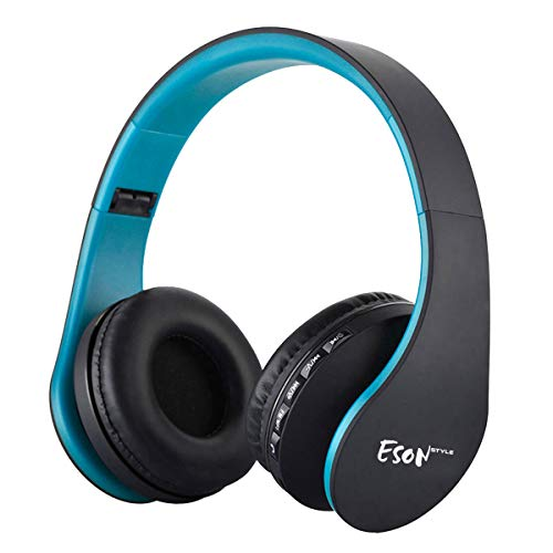 (Esonstyle Over-ear Bluetooth Headphones,Foldable Wireless Bluetooth Stereo Headset wired headphone with Handsfree Call Working with All 3.5 mm Music Device and Mobile phone)