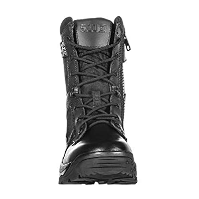 """5.11 Women's ATAC 2.0 8"""" Tactical Side Zip Storm Military Combat Boot, Style 12406, Black"""