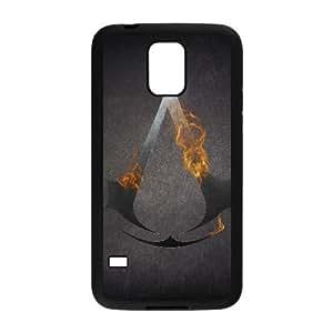 Design Cases Shell Samsung Galaxy S5 I9600 Cell Phone Case Black fon igry kredo ubijcy assassins creed logotipy Wlwob Printed Cover