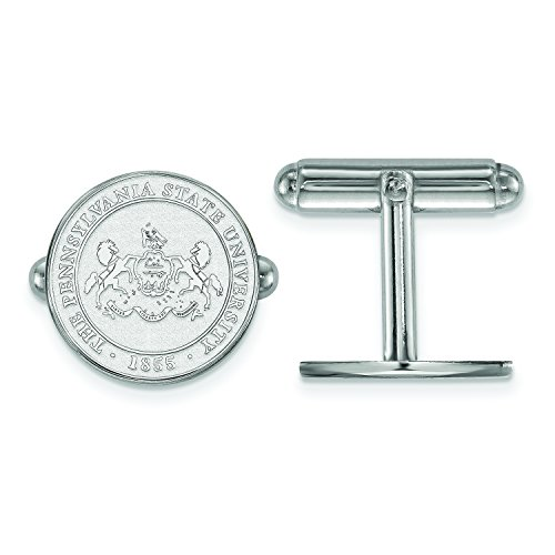 Penn State Crest Cuff Links (Sterling Silver)