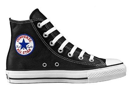 Converse Chuck Taylor As High Leather, Black Leather 10 D(M) US Men /12 B(M) US Women ()