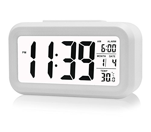 ZHPUAT Morning Clock,low Light Sensor Technology,light on Backligt When Detect Low Light,soft Light That Won't