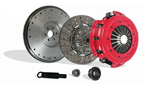 Clutch And Flywheel Kit Works With Ford Mustang Mercury Capri Gt Lx Cobra Svt 1986-1995 5.0L V8 GAS OHV Naturally Aspirated (Stage 1)