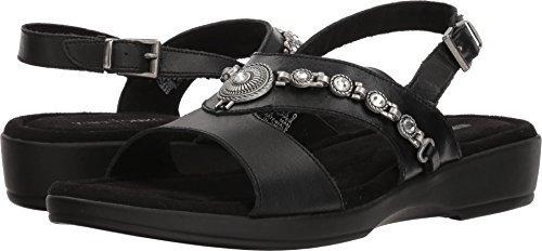 Minnetonka Women's Savina Black Leather 9 M US
