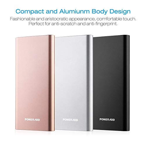 Poweradd Pliot 4GS Plus 20000mAh power bank External Battery Pack Lightning Micro reviews power Bank 36A rapidly convenient Charger for iPhone iPad Samsung LG and a lot more improved Gold Apple Micro Cable included International Chargers