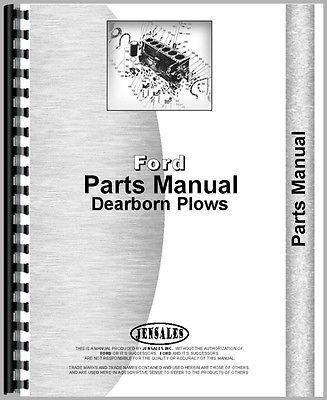 New Dearborn Field Cultivators Cultivator Tractor Parts Manual (FO-P-CULT)