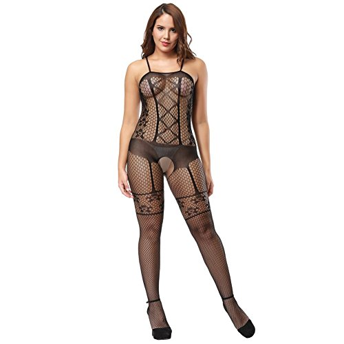e939d41922 Deksias Fishnet Bodystocking Crotchless Bodystocking Bodystocking Sexy  Strappy Babydoll Bodysuits - Buy Online in UAE.