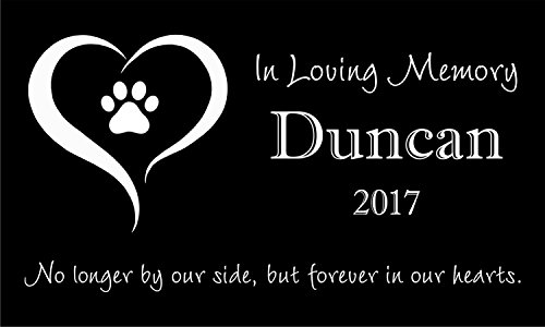 Personalized Pet Stone Memorial Marker Granite Marker Dog Cat Horse Bird Human 6'' X 10'' Personalised Dalmatian Doberman Pinscher by Pet Stones USA (Image #4)