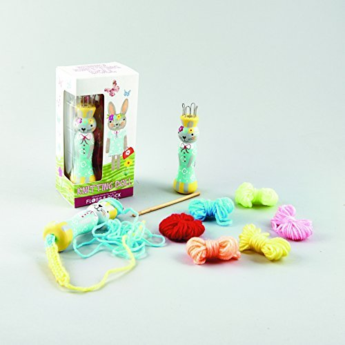Floss & Rock Knit Doll Loom Beginner Knitting Kit with Yarn – Bunny
