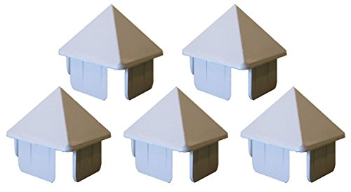 (Pack of 5 Illinois Picket Fence Cap 1.5''X1.5'' ... (White))