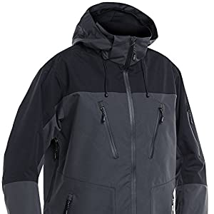 FLADEN Fishing Authentic Wear Fully Waterproof and Windproof GREY BLACK Jacket – Ideal...