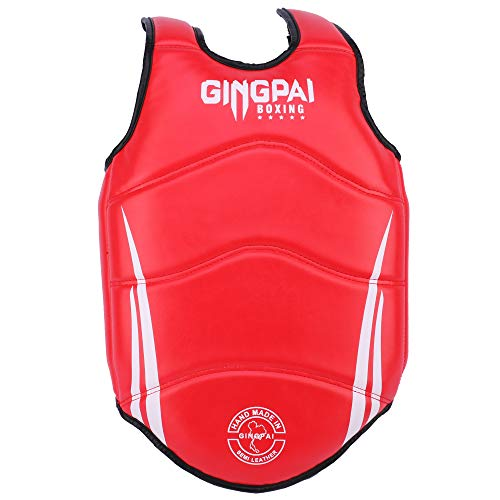 GINGPAI Chest Guard for Men & Women, PU Leather Boxing Body Protector Kickboxing Martial Arts Muay Thai MMA Armour, Body…