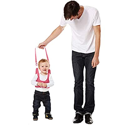 Walking Harness Walker for Baby Toddler,Safe Stand Hand Held Walking Helper,Walking Belt Learning To Walk Assistant Trainer for Infant Child,Adjustable Seatbelt Harness Childs Walker Learning Toy