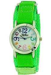 Reflex Kids Lime Green Velcro Fabric Strap Watch KID-0076