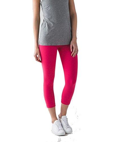 Lululemon Wunder Under Crop Yoga Pants Reversible (Boom Juice/Red Grape, 10) ()