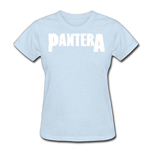 Pantera Logo,cool Roundneck SkyBlue T-shirt For Women - XL SkyBlue